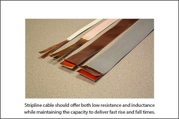 Strip Line Cable for Pulsed Current to Laser